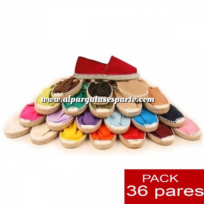 Imagen Mujer Cerradas Alpargatas cerradas Boda Surtidas en colores y tallas ESPECIAL- caja de 36 pares