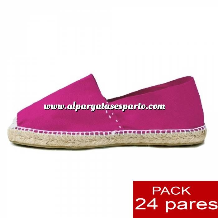 Imagen Mujer Cerradas Alpargatas cerradas MUJER color FUCSIA - caja 24 pares
