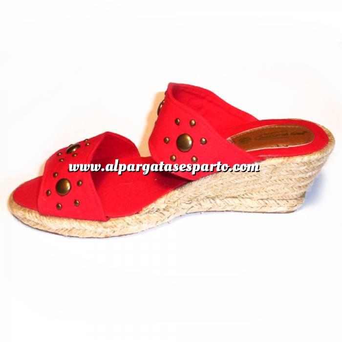 Imagen Rojo VALREM Y104511-S Alpargata Remaches Rojo Talla 37