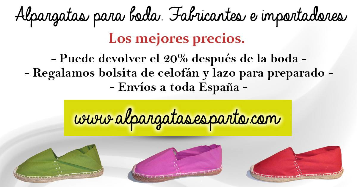 Alpargatas de Esparto Catálogo online , venta directa, .
